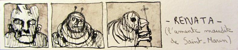 RENATA (l'amante maudite de Saint-Marin) / (Août 2014) - Illustrations Eric Demelis